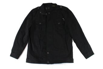 Designer Brand Mens Jacket Black Size Medium M Full-Zipped Pocket-Front