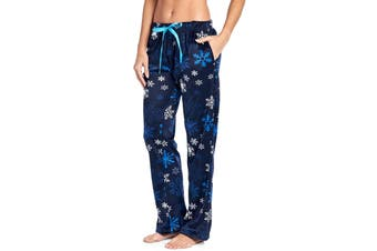 Ashford & Brooks Women's Sleepwear Blue Small S Lounge Pants Snowflake