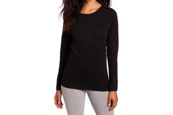 Duofold Women's Top Midnight Black Size Small S Knit Scoop Neck Wicking