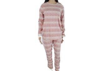 Burts Bees Baby Womens Sleepwear Red Medium M Fair-Isle Pajama Sets