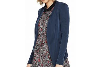 BCBG Generation Women's Sweater Blue Size Small S Open Front Cardigan