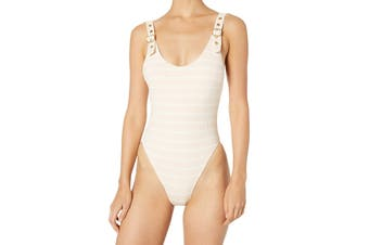 BCBG Generation Women's Swimwear Pink Size Small S Striped One-Piece