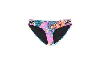 Body Glove Women's Swimwear Black Size Medium M Floral Print Runy
