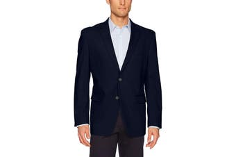 Adolfo Mens Sport Coat Navy Blue Size Medium M Two-Button Notched