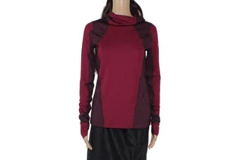 Under Armour Women's Activewear Top Burgundy Red Size Small S Insulated