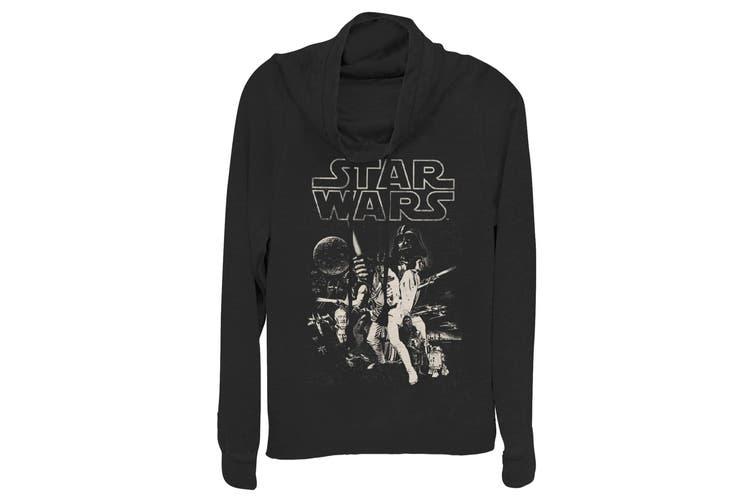 Disney Sweater Deep Black Size Small S Junior Star Wars Cowl Neck
