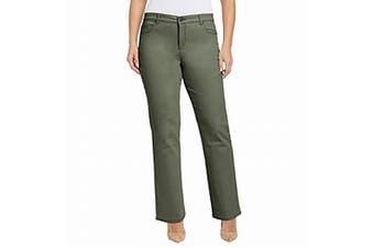 Bandolino Women's Jeans Sprucewood Green Size 22W Plus Mandie Stretch