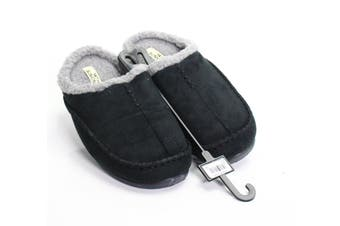 14th & Union Black Men's Size 9M Acrylic Moccasin Slippers Shoes