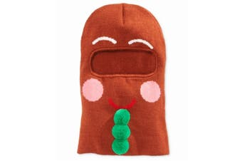 American Rag Brown Men's One-Size Gingerbread Face Mask Beanie Hat