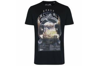 Diesel Mens T-Shirt Black Size Small S Brave Revival Tour Crewneck Tee