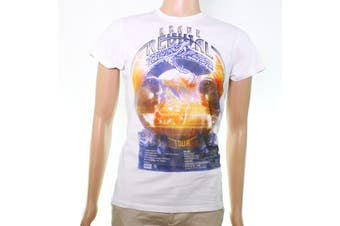 Diesel Mens Graphic Tee T-Shirt White Size Small S 'Brave Revival Tour'