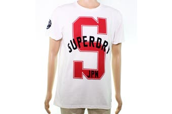 Superdry Mens Graphic Tee T-Shirt White Size XL 'S Logo JPN' State