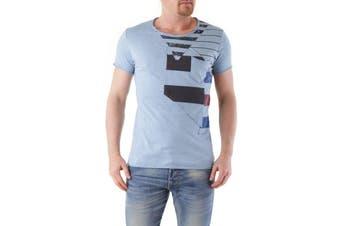 Absolut Joy Men's T-Shirt In Light Blue
