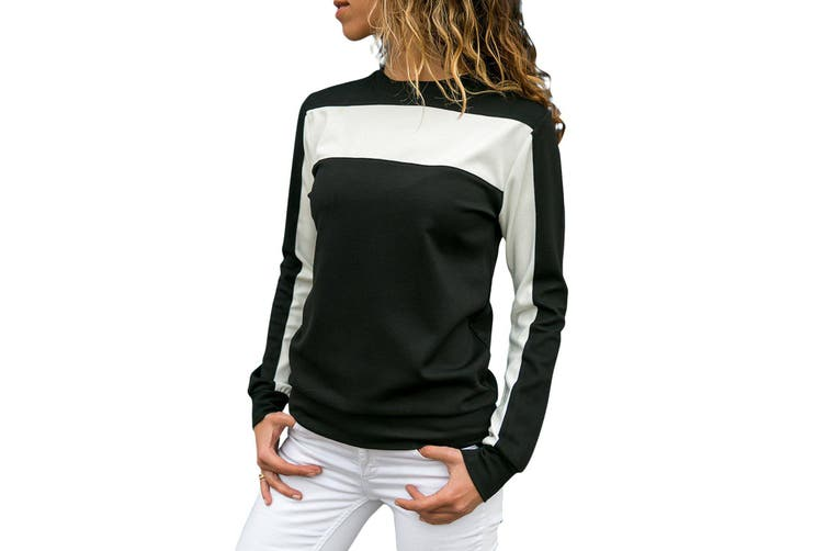 Dick Smith Azura Exchange Black Color Block Round Collar Sweatshirt Jackets Clothing