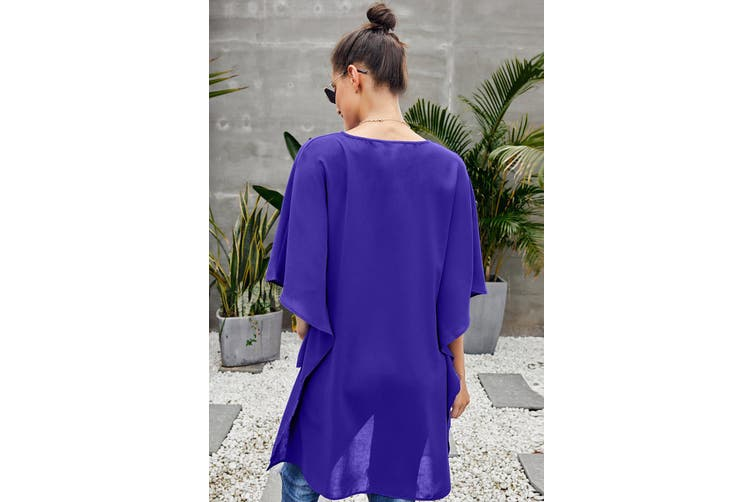 Azura Exchange Blue Chic High Low Kimono Top