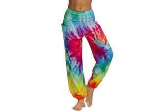 Azura Exchange Multicolor Boho Tie-dye Casual Loose Hippy Harem Pants