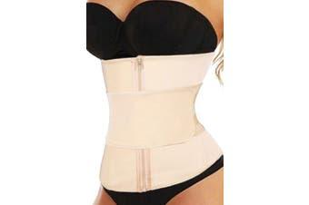 Azura Exchange Nude Zipper Front Lose Weight Tummy Compression Belt Waist Trainer