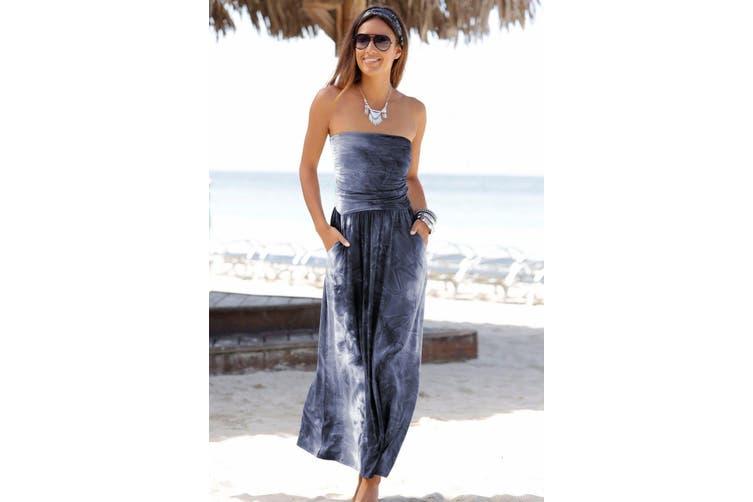 Azura Exchange Gray Bohemian Bandeau Print Maxi Dress
