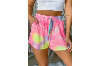 Azura Exchange Multicolor Neon Tie Dye Shorts