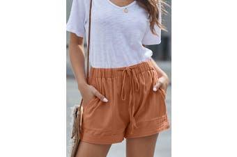 Azura Exchange Orange Strive Pocketed Tencel Shorts