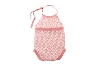 Azura Exchange Red Newborn Baby Sleeveless Knit Scale Romper
