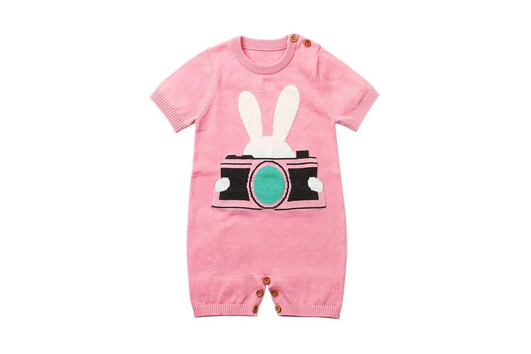 Azura Exchange Pink Rabbit Photography Baby T-shirt Onesies