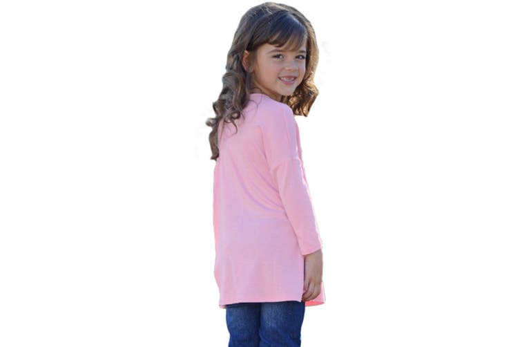 Azura Exchange Pink Long Sleeve Crisscross Top for Girls