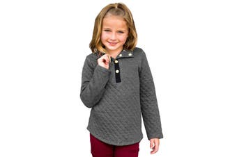 Azura Exchange Gray Toddlers Monogrammed Quilted Pullover Tunic