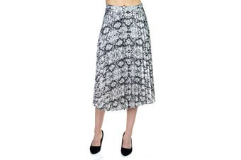 Azura Exchange Pleated Snake Print Skirt