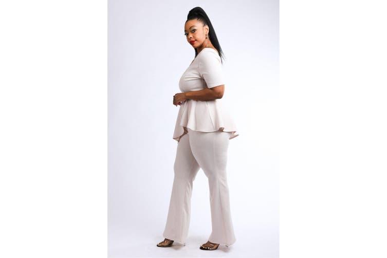 Azura Exchange Peplum Top & Pants Set