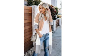 Azura Exchange Khaki Love The One You're With Colorblock Cardigan