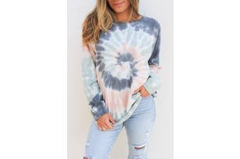 Azura Exchange Multicolor Ombre Tie Dye Loose Leisure Sweatshirt