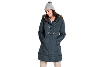 Azura Exchange Gray Toggle Button Quilted Coat for Women