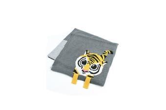 Azura Exchange Gray Tiger Baby Receiving Blanket