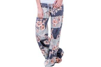 Azura Exchange Grey Bold Stripes Flora Terry Wide Leg Pants