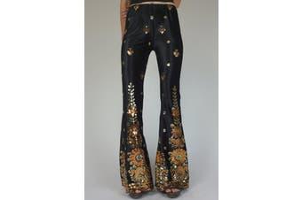 Azura Exchange Printed Sequined Flared Pants