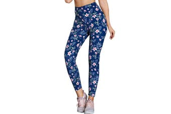 Azura Exchange High Waist Floral Print Compression Womens Leggings