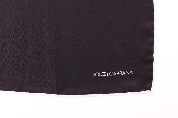 Dolce & Gabbana Blue Silk Handkerchief