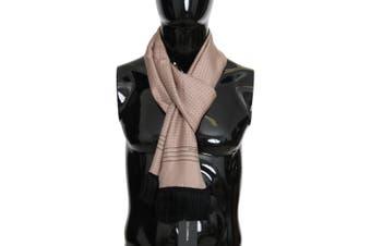 Dolce & Gabbana Pink Polka Dotted Silk Fringes Scarf