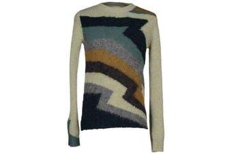 Dries Van Noten Zigzag Intarsia Magnet Wool Sweater
