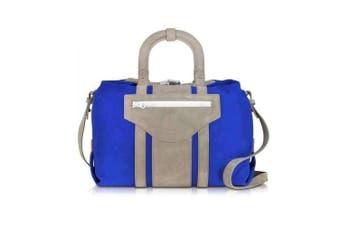 Carven Carven Pelham Blue Suede Shoulder Bag