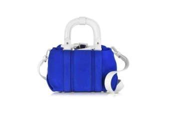 Carven Carven Pelham Blue Suede Small Shoulder Bag