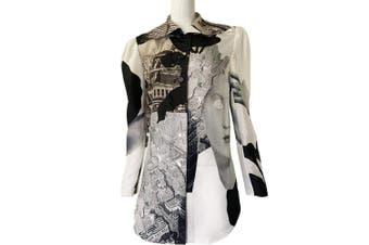 Carven Carven Printed Silk Habotai Shirt