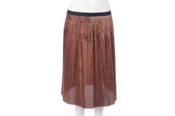 Marni Gold Pleated Midi Skirt