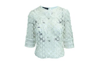 Sretsis Transparent Top With White Flowers