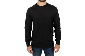 Costume National Gray crewneck pullover sweater