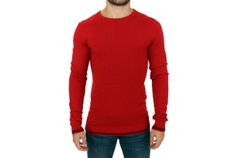Costume National Red crewneck wool sweater