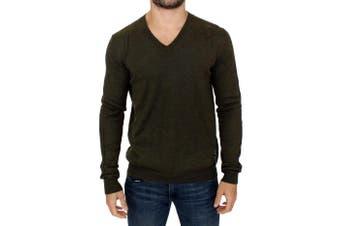 Karl Lagerfeld Green v-neck pullover sweater