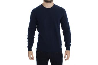 Costume National Blue Wool Crewneck Pullover Sweater