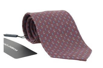 Dolce & Gabbana Bordeaux Silk Patterned Tie
